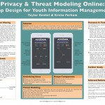 Privacy & threat modeling online: app design for youth information management Taylor Kenkel, Krista Parham