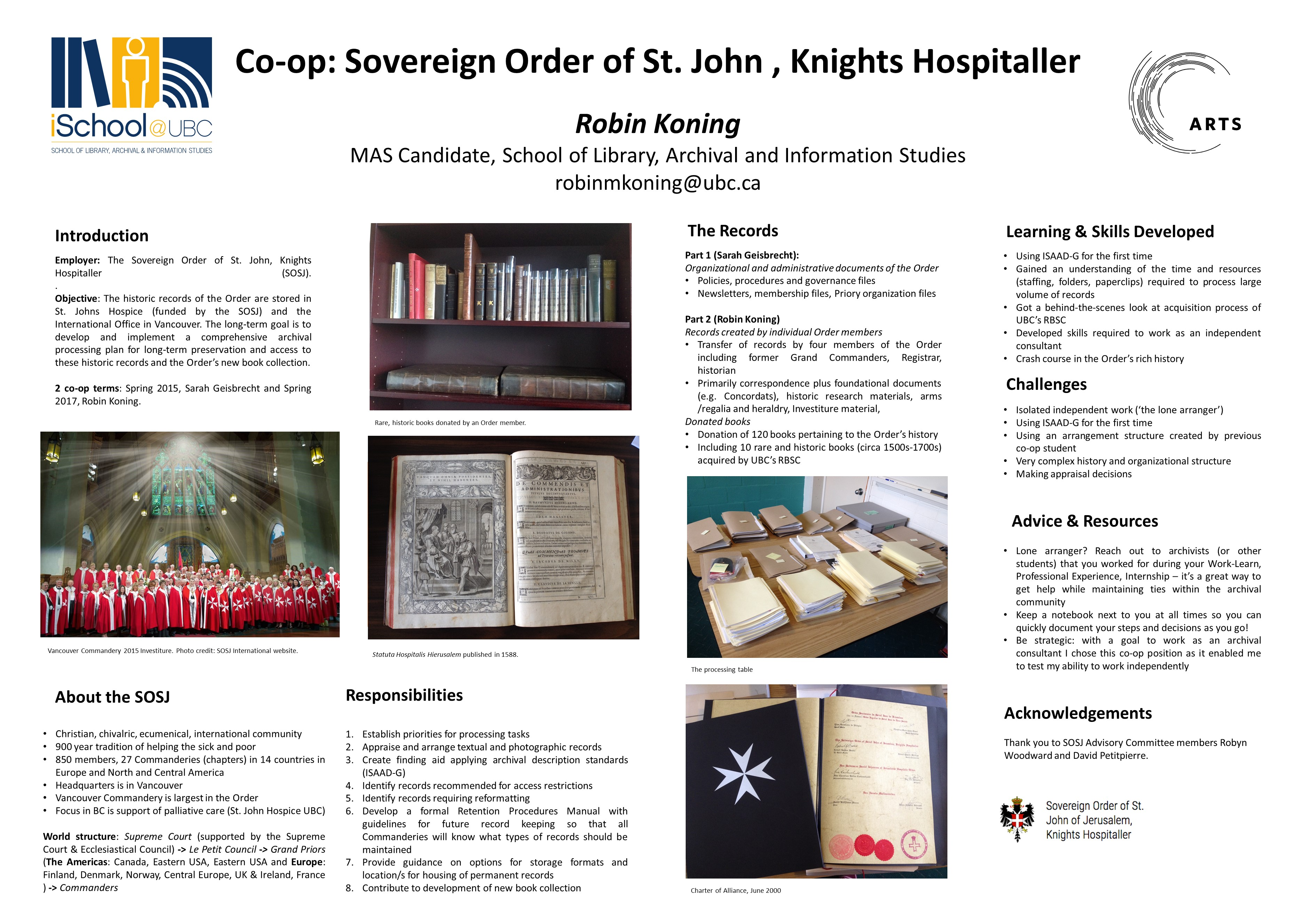 Experiential learning day ubc ischool sovereign order of st john knights hospitaller robin koning 1betcityfo Choice Image